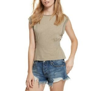 Free People by We the free May Tank In Olive Small